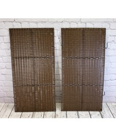 Pair of Front Panels For Double Rattan Wheelie Bin Screen
